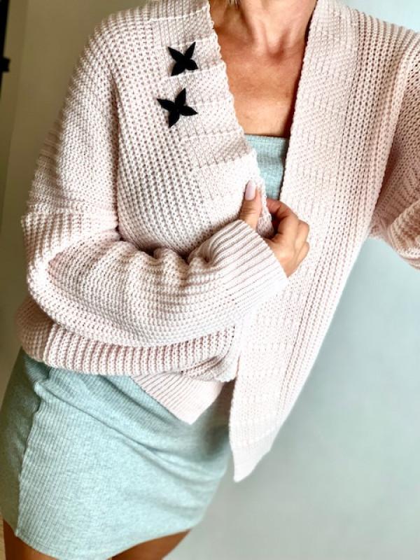 "Sweterek ""Two stars"" pink"