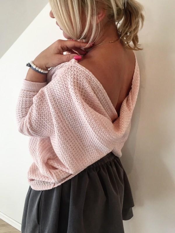 Sweterek Przekładany Motylek. Kolor Różowy