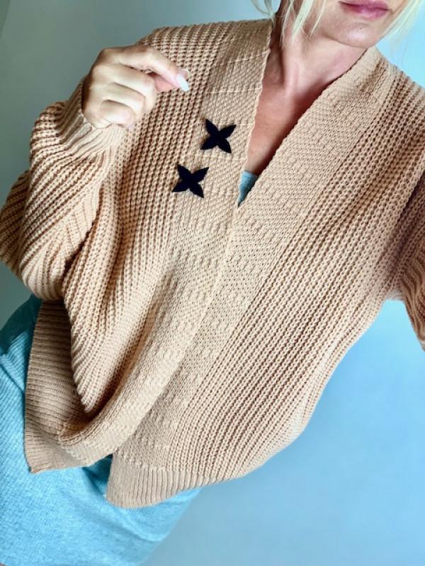 """Sweterek """"Two Stars"""" morela"""
