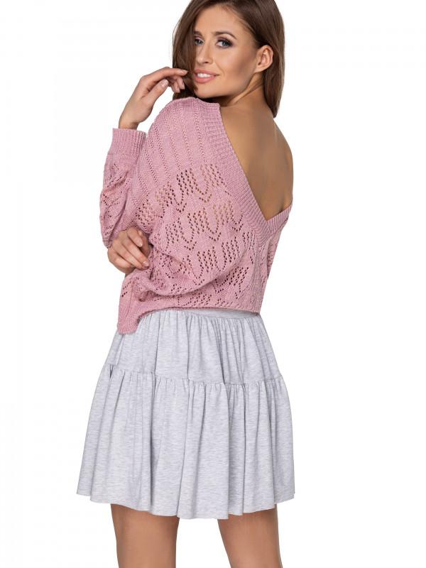 sweter ażurowy z kwiatkami