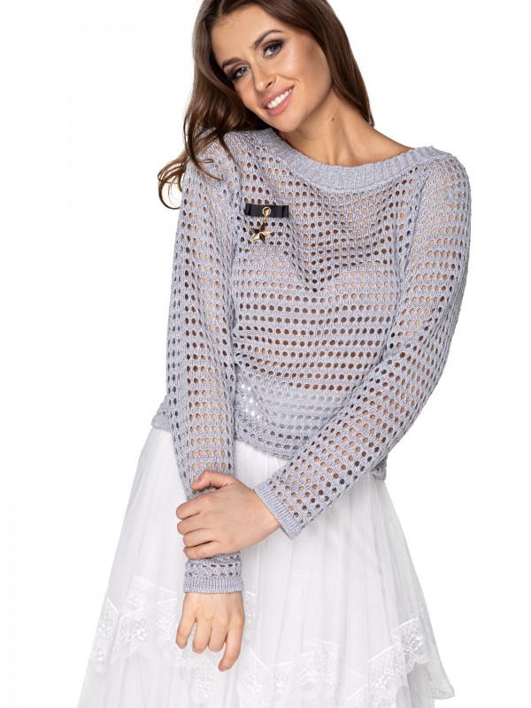 sweterek ażurowy w dziury