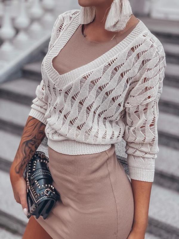 sweter ażurowy Rybki