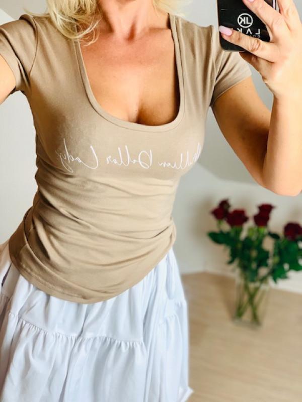 Bluzeczka z nadrukiem Million Dollar Lady