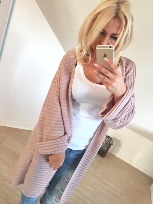 sweter rozpinany prążek